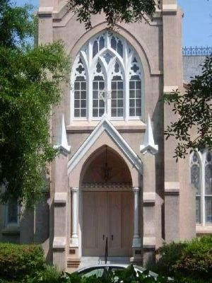 Congregation Mickve Israel -<br>West Entrance image. Click for full size.
