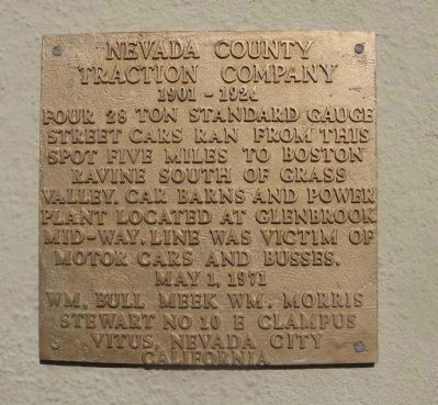 Nevada County Traction Company Marker image. Click for full size.