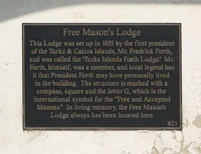 Free Mason's Lodge Marker image. Click for full size.