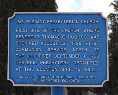 Mt. Pleasant Presbyterian Church Site Marker image. Click for full size.