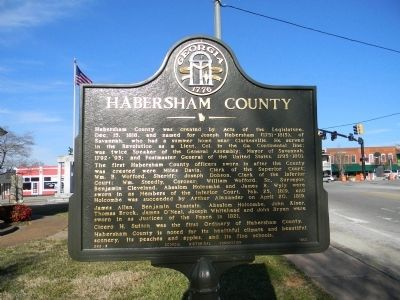 Habersham County Marker image. Click for full size.