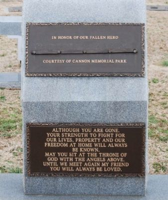 Cannon Memorial Park Veterans Monument Plaques image. Click for full size.