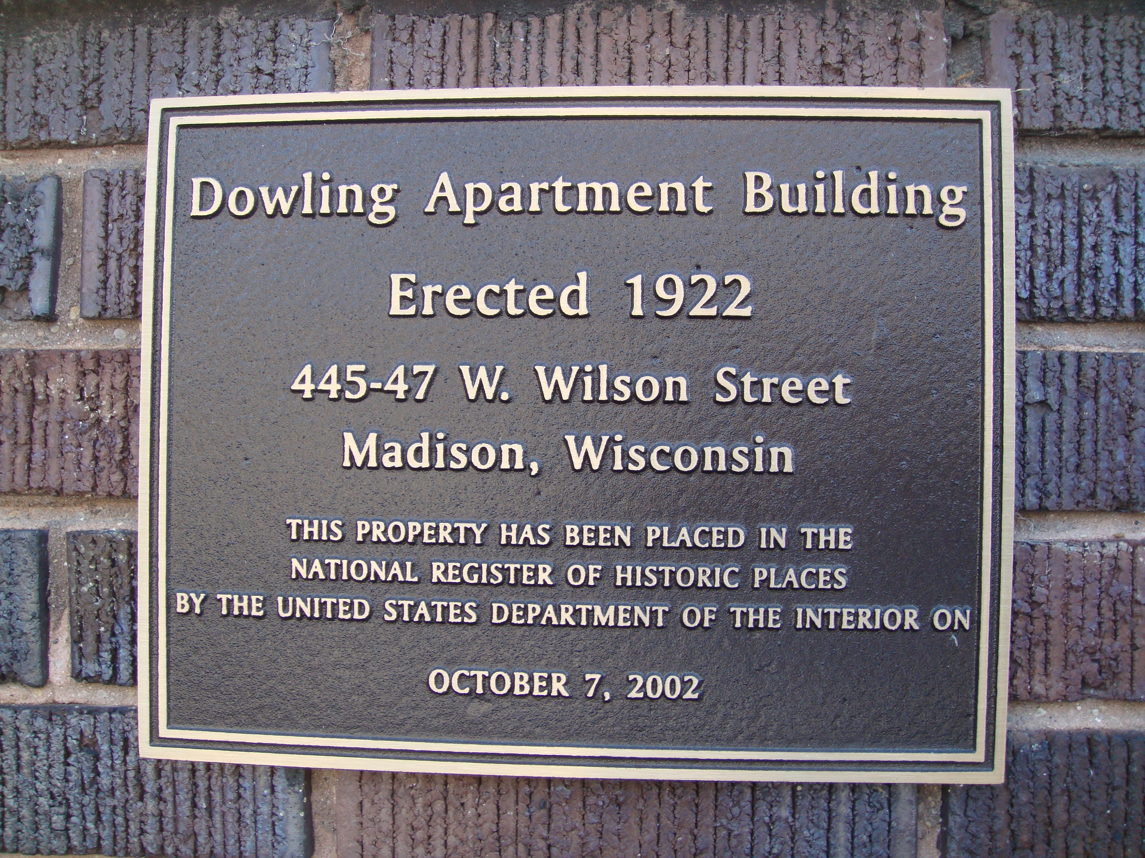 Dowling Apartment Building Marker