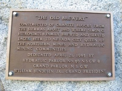 """The Old Brewery"" Marker image. Click for full size."