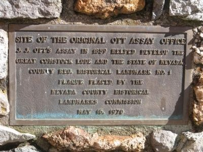 Site of the Original Ott Assay Office Marker image. Click for full size.