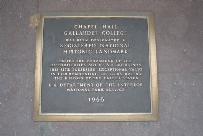 Chapel Hall Marker image. Click for full size.