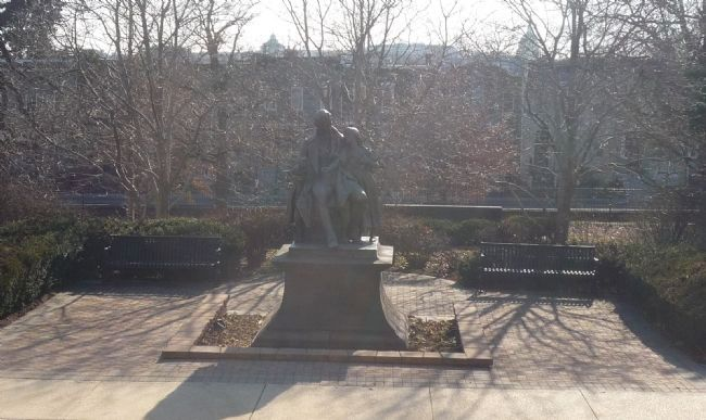 Thomas Hopkins Gallaudet Memorial image. Click for full size.