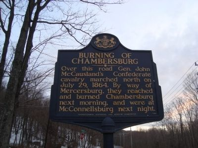 Burning Of Chambersburg Marker image. Click for full size.