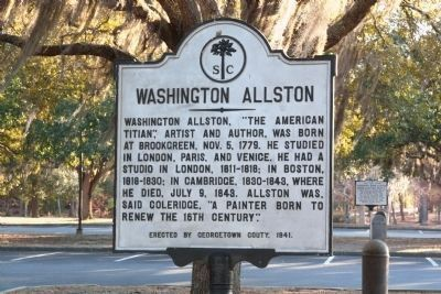 Washington Allston Marker image. Click for full size.