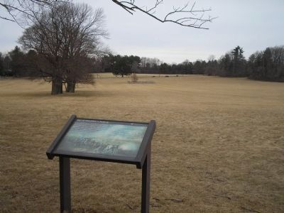 Marker on Princeton Battlefield image. Click for full size.
