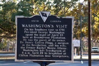 Washington's Visit Marker image. Click for full size.
