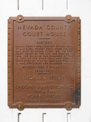 Nevada County Court House Marker image. Click for full size.