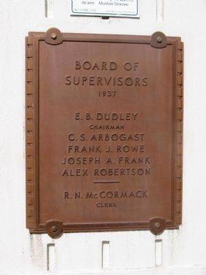 Board of Supervisors - 1937 image. Click for full size.