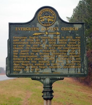 Evergreen Baptist Church Marker image. Click for full size.