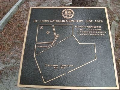 St. Louis Catholic Cemetery - Site and Directional Map image. Click for full size.