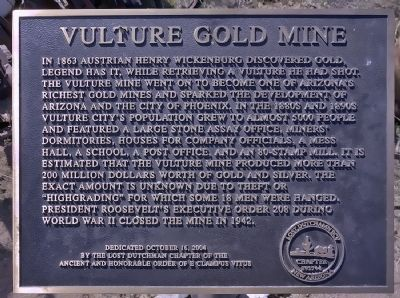Vulture Gold Mine Marker image. Click for full size.