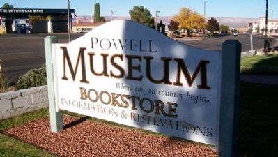 John Wesley Powell Memorial Museum Sign image. Click for full size.
