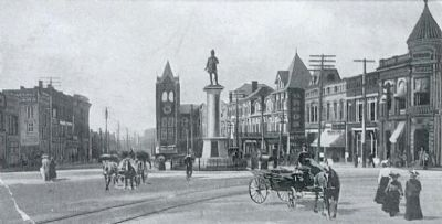 Square Showing Morgan Monument and Opera House Tower image. Click for full size.