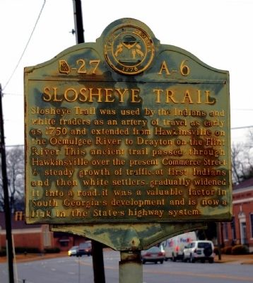 Slosheye Trail Marker image. Click for full size.
