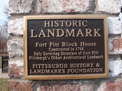 Fort Pitt Blockhouse Marker image. Click for full size.