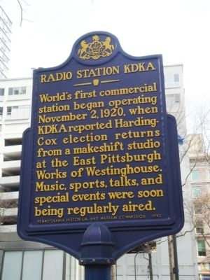 Radio Station KDKA Marker image. Click for full size.