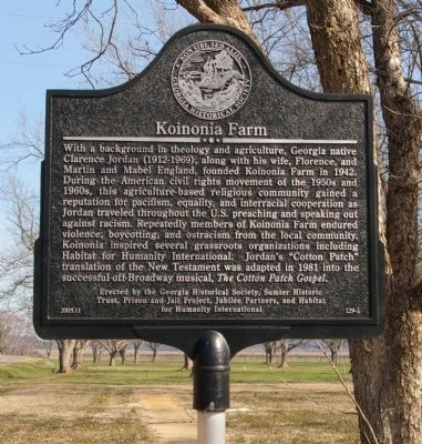 Koinonia Farm Marker image. Click for full size.