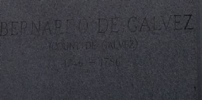 Bernardo de Gálvez Memorial - inscription, northside of base image. Click for full size.