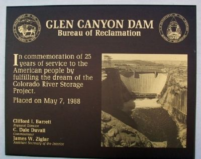 Glen Canyon Dam Marker image. Click for full size.