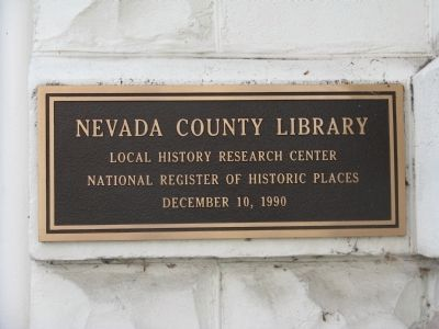 Nevada City Public Library National Register of Historic Places image. Click for full size.