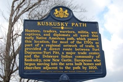 Kuskusky Path Marker image. Click for full size.