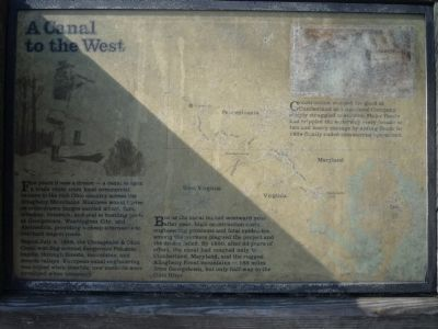 A Canal to the West - Tide Lock Marker (Panel 1) image, Touch for more information