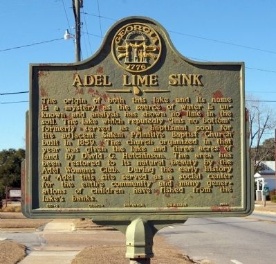 Adel Lime Sink Marker image. Click for full size.