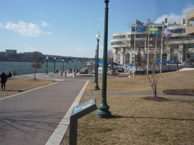 Herring Highway Marker - view from marker toward Georgetown Waterfront Park image. Click for full size.