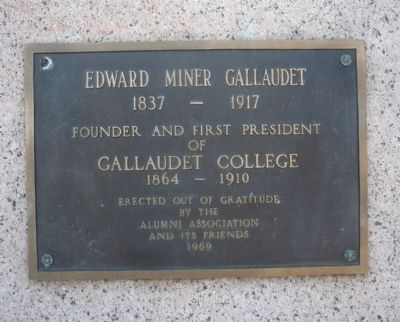 Edward Miner Gallaudet Marker image. Click for full size.