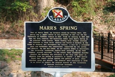 Marr's Springs Marker image. Click for full size.