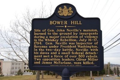 Bower Hill Marker image. Click for full size.