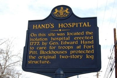 Hand's Hospital Marker image. Click for full size.