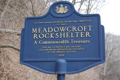 PHMC Declares Meadowcroft Rockshelter A Commonwealth Treasure Marker image. Click for full size.