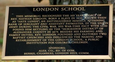 London School Marker image. Click for full size.