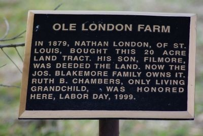 Ole London Farm Marker image. Click for full size.