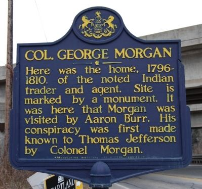 Col. George Morgan Marker image. Click for full size.
