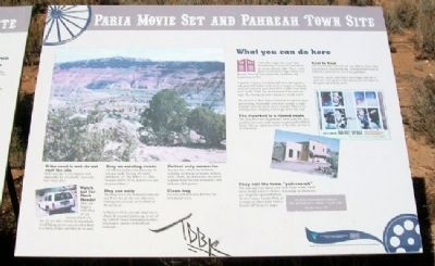 Paria Movie Set and Pahreah Town Site Marker image. Click for full size.
