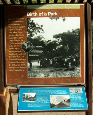 Birth of a Park Marker image. Click for full size.
