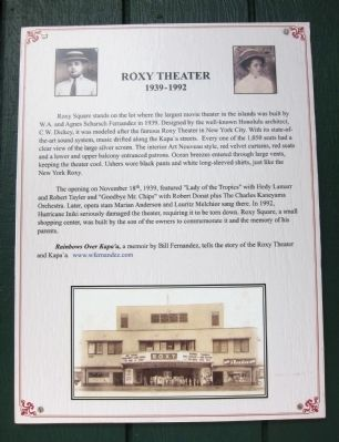 Roxy Theater Marker image. Click for full size.