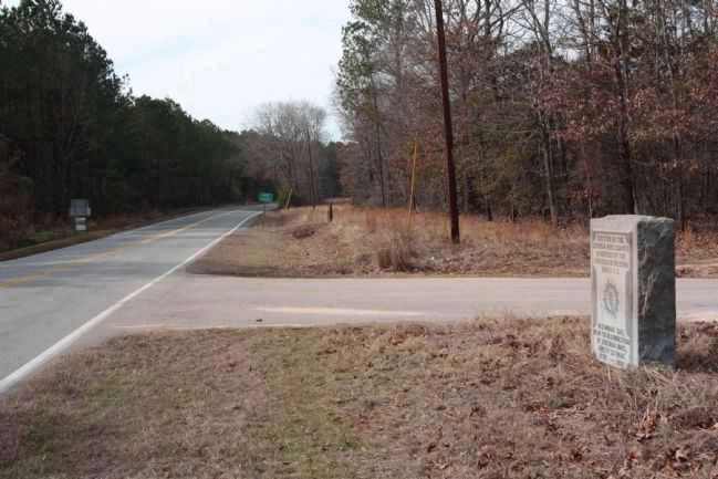 Old Indian Trail Marker, looking north along Ninety Six Road/ John Nunn Highway (State Route 389) image. Click for full size.