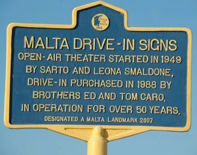 Malta Drive-In Signs Marker image. Click for full size.