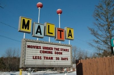 Malta Drive-In Signs image. Click for full size.