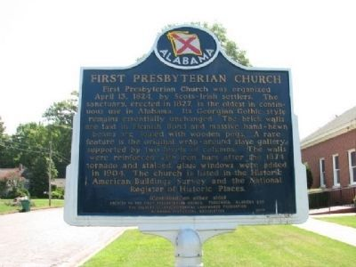 First Presbyterian Church Marker (front) image. Click for full size.