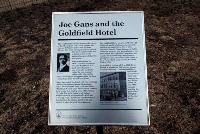 Joe Gans and the Goldfield Hotel Marker image. Click for full size.
