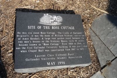 Site of the Rose Cottage Marker image. Click for full size.
